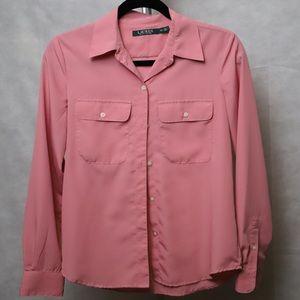 Pink button down dress shirt